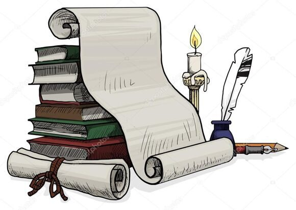 depositphotos_58725347-stock-illustration-old-books-and-scroll